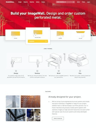 ImageWall home page