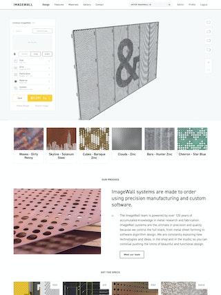 ImageWall designer page