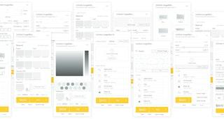 ImageWall interactive 3D designer UI studies